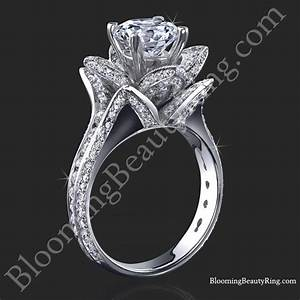 178 ctw original large blooming beauty flower ring for Flower wedding rings