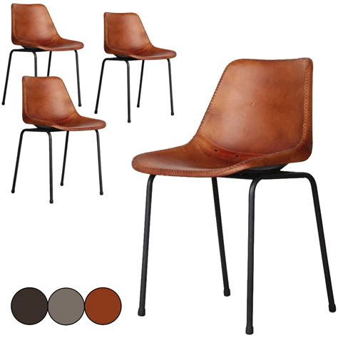 chaise cuir marron chaise en cuir marron hoze home