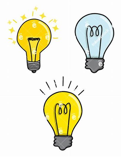 Bulb Clipart Vector Cartoon Filament Getdrawings Bulbs