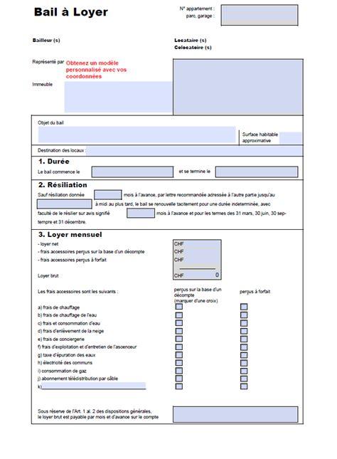 modèle bail location meublée modele bail de location document