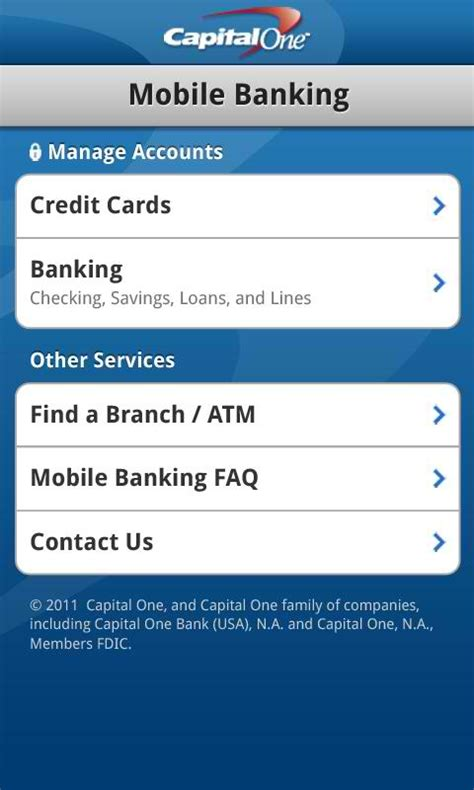 capital one payment phone capital one releases android app android authority
