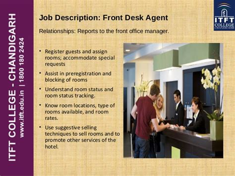front desk agent job duties itft front office introduction