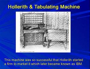 History of Computing Science: Herman Hollerith