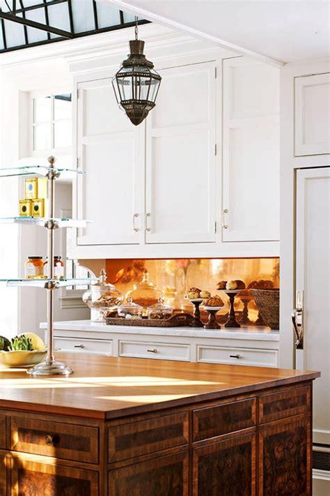 kitchen metal backsplash 25 traditional kitchen design ideas