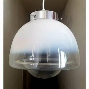 Suspension Globe Verre : suspension globe en verre de murano et chrome vintage 1970 ~ Teatrodelosmanantiales.com Idées de Décoration