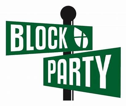 Block Party Clipart Street Clip Sign Church