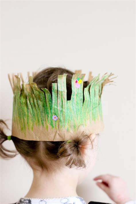 grass crown  earth day fun family crafts