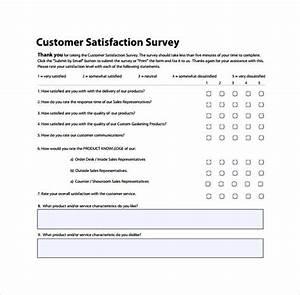 Sample Questionnaire Design Customer Satisfaction Survey To Print Customer