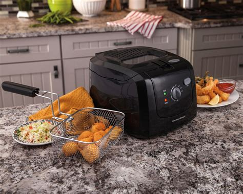 fryer deep hamilton beach electric cool touch basket oil amazon chicken liter tender counter capacity tank cooker sides fryers countertop