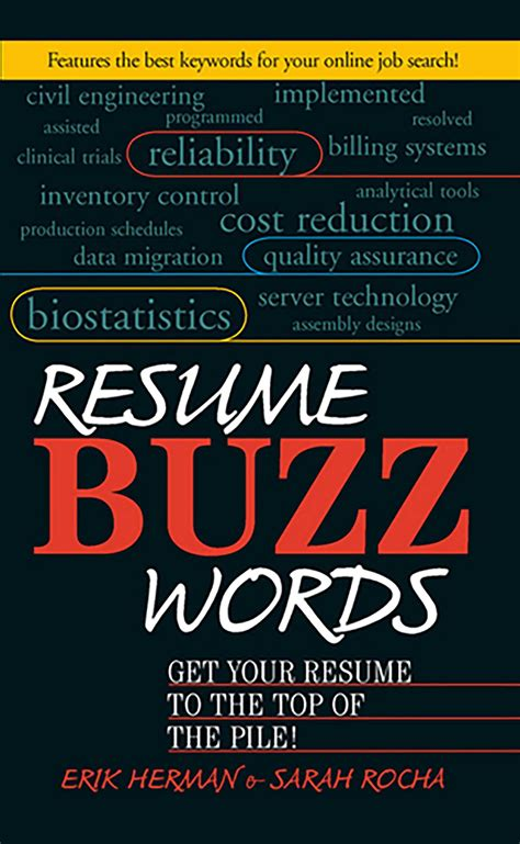 Hr Buzzwords For Resumes by Resume Buzz Words Ebook By Erik Herman Rocha Official Publisher Page Simon Schuster