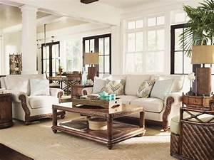 tommy bahama home bali hai shoreline sofa tropical With tommy bahama living room decorating ideas