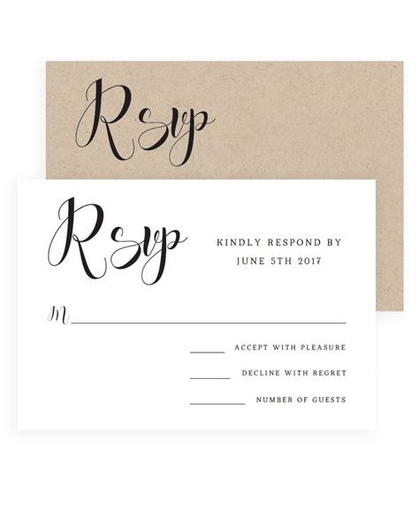 Check spelling or type a new query. Simple Wedding Response Cards Templates