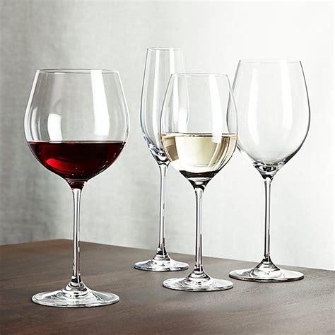 Crate And Barrel Barware - oregon wine glasses crate and barrel