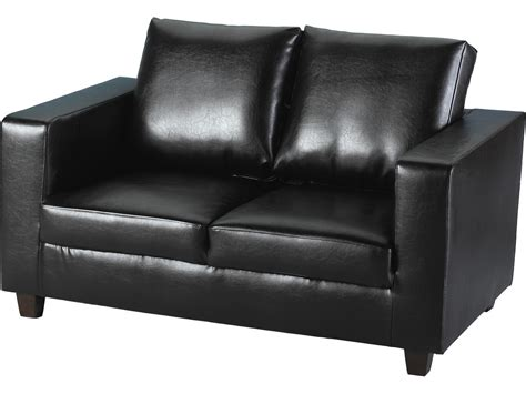 seconique tempo  seater sofa   box black faux
