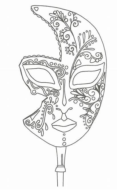 Masque Coloriage Venise Icolor Coloring