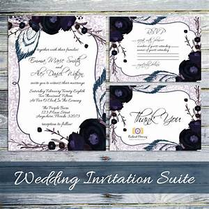 items similar to printable wedding invitation gothic With free printable gothic wedding invitations