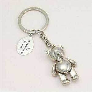 Teddy Bear Keyring With Engraving Jewels 4 Girls