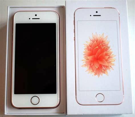 apple iphone se gb smartphone unlocked rose gold space
