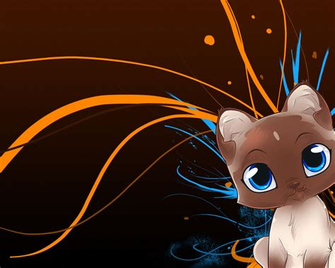 Cute Anime Cat Wallpaper Wallpapersafari