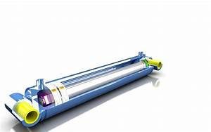 Hydraulic Cylinder D100 S500 3D Model STP | CGTrader.com