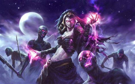 Magic The Gathering Wallpaper Fantasy Art Magic The Gathering Witch Zombies Liliana Vess Wallpapers Hd Desktop And