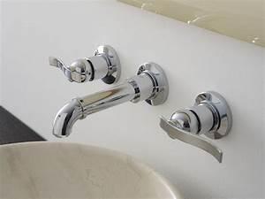 Robinet 3 Trous Lavabo : bali robinet pour lavabo mural by graff europe west ~ Edinachiropracticcenter.com Idées de Décoration