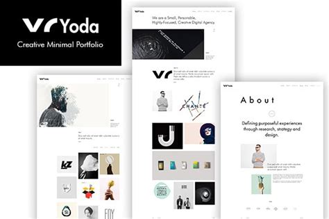 yoda creative minimal portfolio website templates