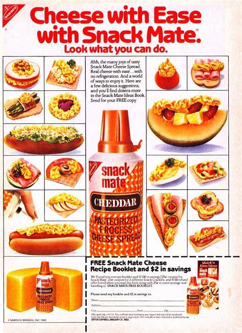 nabisco snack mate ads  original spray cheese snaxtime