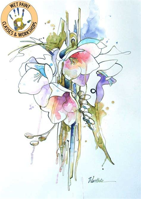 fresh florals  hydrus watercolor taught  wendy
