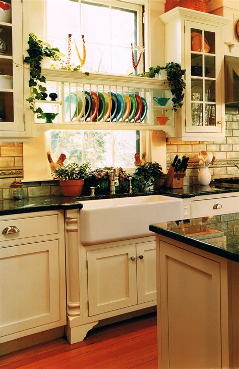 farmhouse sinks  plate holder cool   display  colorful fiesta ware kitchen ideas