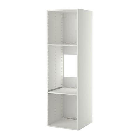meuble de cuisine pour four encastrable metod korpus hochschrank kühl ofen weiß 60x60x200 cm