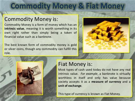 What Is Fiat Money In Economics by Powerpoint My Money And Its Development