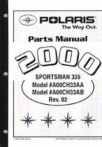 2000 Polaris Sportsman 335 4 U00d74 Parts Manual