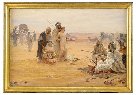 otto pilny swiss   orientalist painter oil