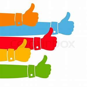 Like and Thumbs Up illustration | Stock Vector | Colourbox