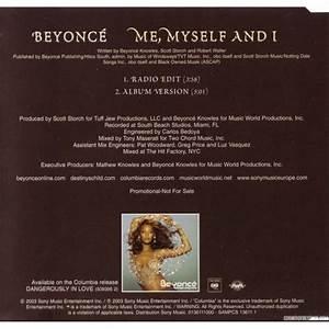 Me, Myself And I (Single) - Beyonce mp3 buy, full tracklist