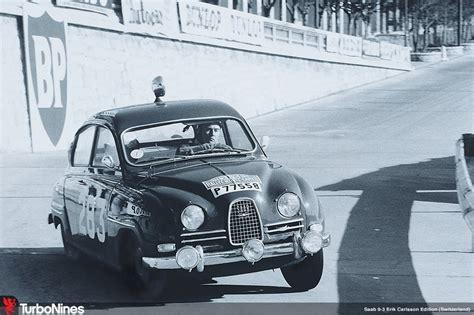 Erik Carlsson In His Saab 96