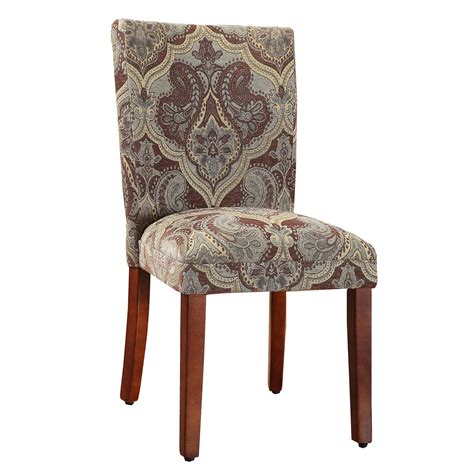 homepop blue and brown paisley parson chair set of 2