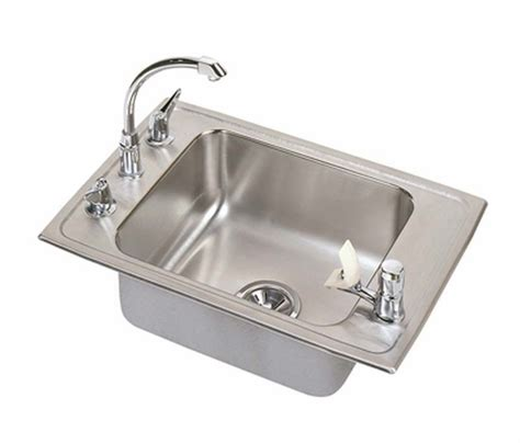 stainless steel drop in utility sink elkay classroom single bowl drop in self rimming stainless