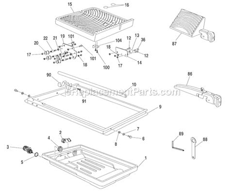 Ryobi 7 Tile Saw Assembly by Ryobi Ws730 Parts List And Diagram Ereplacementparts