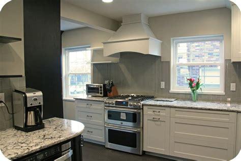 bellingham cambria  gray subway tile backsplash vertical kitchen backsplash