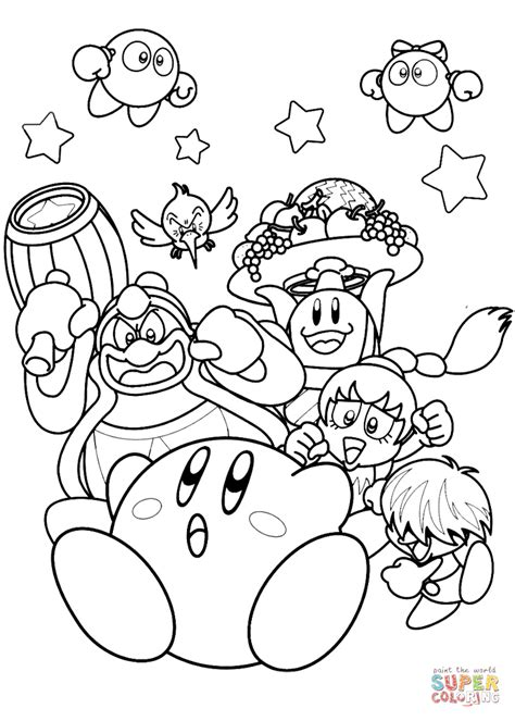 kirby coloring pages kirby king dedede coloring
