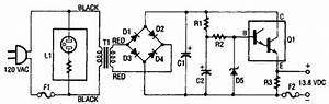 13 8vdc 2a Regulated Power Supply Circuit Diagram