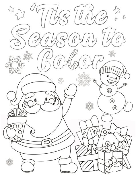 christmas coloring pages  adults  kids