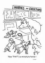 Coloring Pages Horse Pony Racing Shetland Herd Steer Hobbies Printable Getcolorings Trailer sketch template