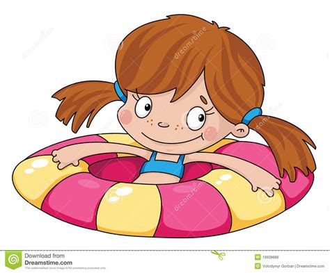 Girl Swimming In Pool Clipart Collection