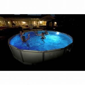 Eclairage Piscine Hors Sol : spot led pour piscine hors sol acier et bois blanc froid ~ Dailycaller-alerts.com Idées de Décoration