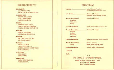 programentertainment slavic heritage council of america inc