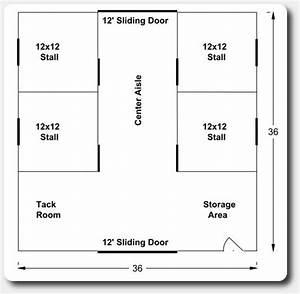 36 x 36 horse barn plans pole barns pole buildings by apb With 4 stall horse barn designs
