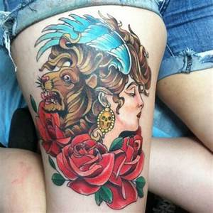 Tattoo Frau Oberschenkel : 99 sexy and bold thigh tattoo designs for girls ~ Frokenaadalensverden.com Haus und Dekorationen